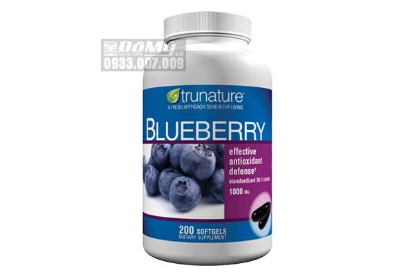 Viên uống chống lão hóa, chữa rối loạn tiền đình Trunature Blueberry 200 viên