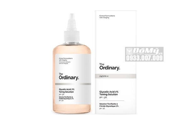 Nước Hoa Hồng Tẩy Da Chết The Ordinary Glycolic Acid 7% Toning Solution pH~3.6 (240ml)