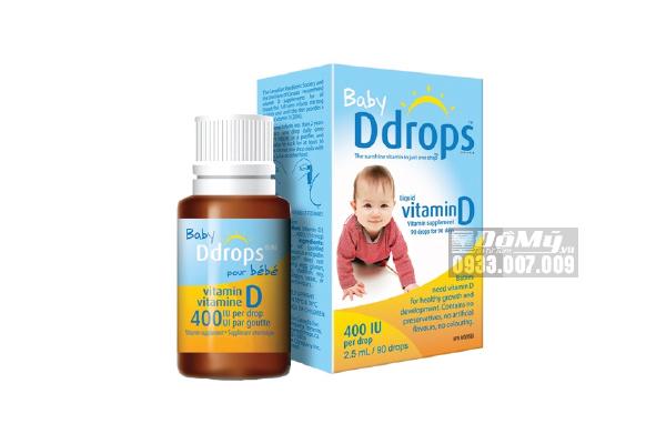 Baby D drops Vitamin D3 cho trẻ sơ sinh 90 giọt của Mỹ
