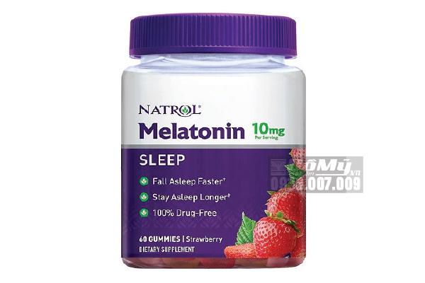 Kẹo Dẻo Giúp Ngủ Ngon Natrol Gummies Melatonin 10mg 60 viên