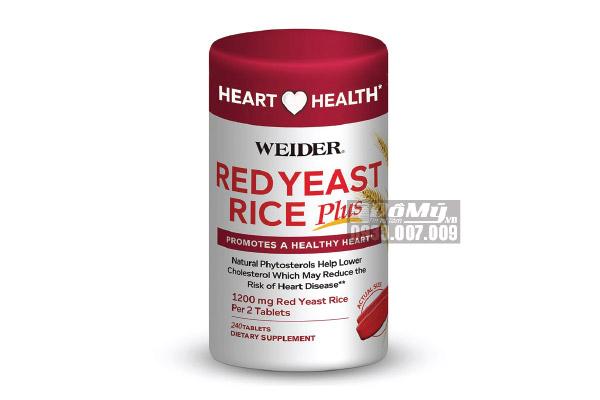 Viên Uống Giảm Nguy Cơ Tim Mạch Weider Red Yeast Rice Plus 240 Viên
