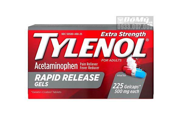Viên Uống Giảm Đau Hạ Sốt Tylenol Extra Strength Rapid Release Gels 500mg 225 viên (2 màu)
