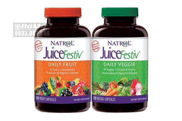 Viên Uống Bổ Sung Vitamin Từ Rau Củ Quả Natrol JuiceFestiv 120 Viên