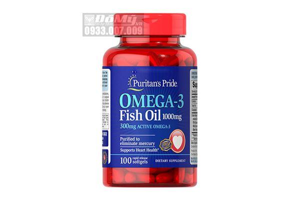Viên uống Fish Oil Puritan'S Pride Omega-3 Fish Oil 1000 mg 100 viên