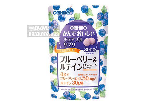 Viên Uống Bổ Mắt Chống Ánh Sáng Xanh Orihiro 120 viên Nhật Bản