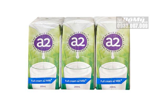 Sữa Tươi Tiệt Trùng Nguyên Kem A2 Của Úc 200ml