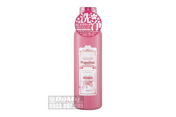 Nước súc miệng Propolinse Sakura 600ml của Nhật Bản