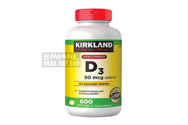 Viên Uống Bổ Sung Vitamin D3 Kirkland D3 50 Mcg (2000iu) - 600 Viên - Mỹ