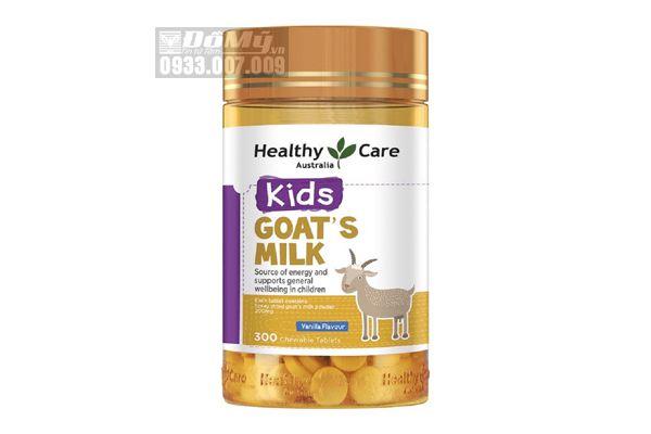 Sữa Dê Cô Đặc Dạng Viên Goat Milk Healthy Care Úc 300 Viên