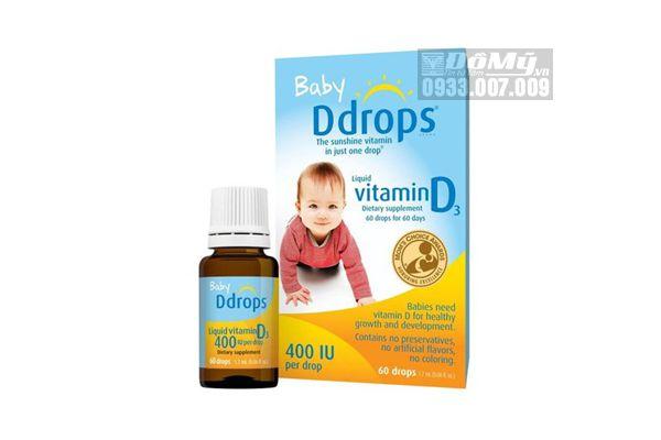 Baby D Drops Vitamin D3 Cho Trẻ Sơ Sinh 60 Giọt Của Mỹ