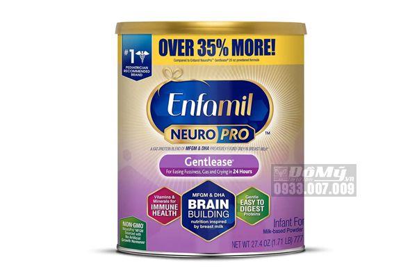 Sữa Enfamil NeuroPro Gentlease 777g của Mỹ