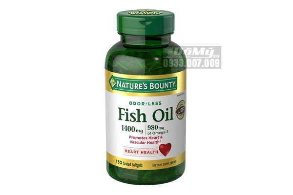 Viên uống bổ mắt Fish Oil 1400mg 130 viên của Nature's Bounty Mỹ