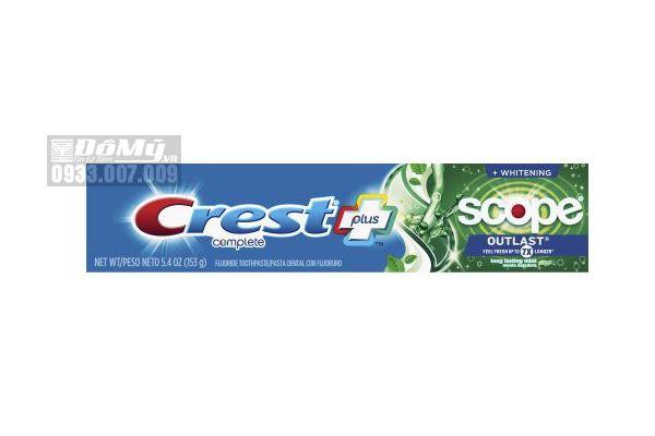 Kem đánh răng Crest Plus Scope Outlast 7X 153g
