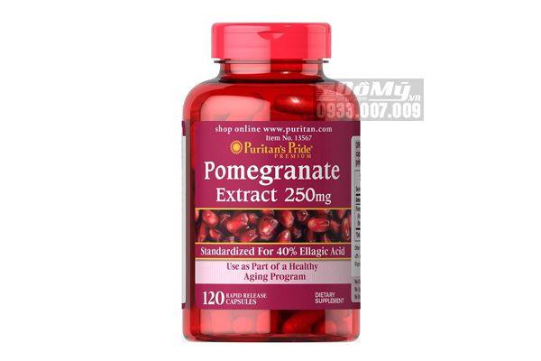 Viên Uống Chống Nắng Lựu Đỏ Puritan's Pride Pomegranate 250mg 120 viên
