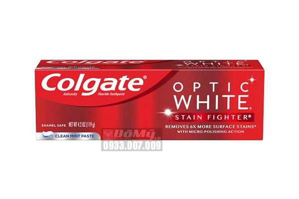 Kem đánh răng Colgate Optic White Advanced White 119g