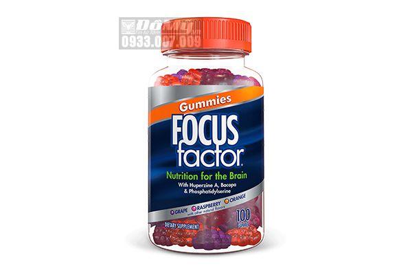 Kẹo dẻo hỗ trợ trí não Gummies Focus Factor 100 viên của Mỹ
