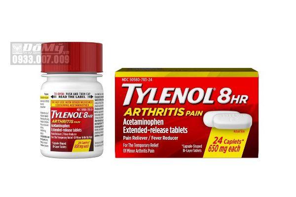 Viên Uống Giảm Đau Hạ Sốt Tylenol 8Hr Arthritis Pain 24 Viên 650mg Của Mỹ