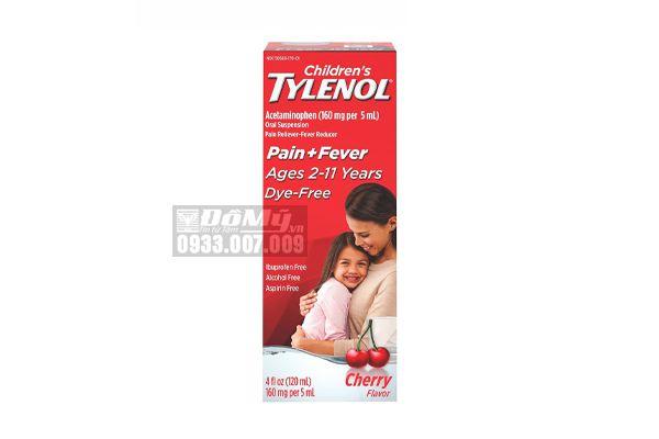 Siro Giảm Đau, Hạ Sốt Children's Tylenol Pain + Fever 120ml  Từ 2 - 11 Tuổi Của Mỹ