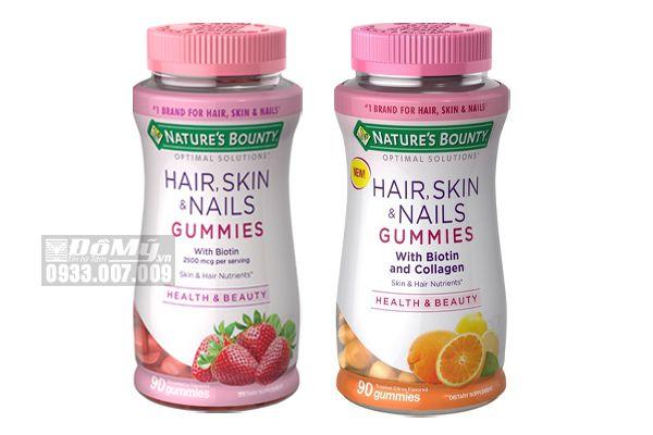 Kẹo Dẻo Đẹp Da Tóc Móng Hair Skin & Nails Gummies 90 Viên Của Mỹ