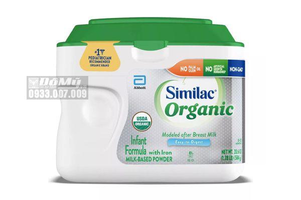 Sữa Similac Organic hữu cơ dành cho bé từ 0-12 tháng 584g nhập từ Mỹ
