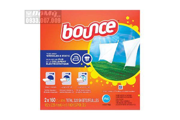 Giấy thơm quần áo Bounce 4 in 1của Canada loại 160 tờ