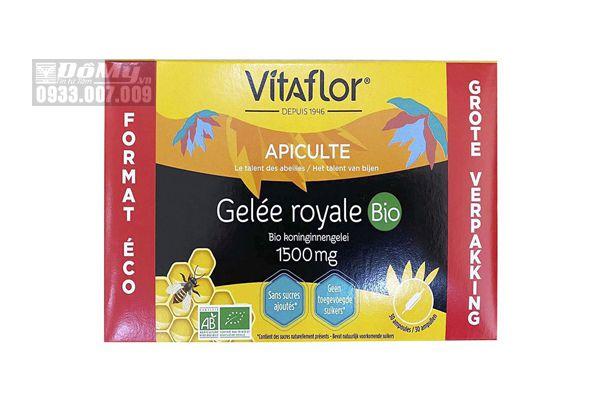 Sữa ong chúa Vitaflor Gelee Royale Bio 1500mg 30 ống của Pháp