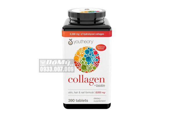 Viên uống chống lão hóa da Collagen Youtheory Type 1-2-3 390 viên của Mỹ