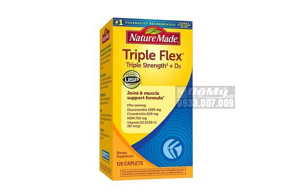 Viên Uống Bổ Khớp Nature Made Triple Flex Triple Strength With Vitamin D3 120 Viên