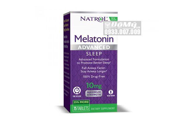 Viên Uống Cải Thiện Giấc Ngủ Natrol Melatonin 10mg 75 Viên Của Mỹ