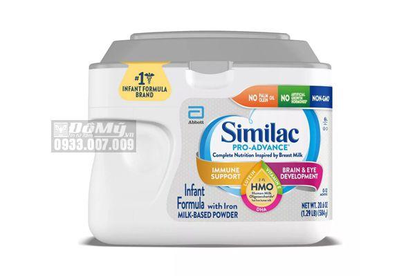 Sữa Similac Pro Advance Non GMO - HMO cho bé từ 0 - 12 tháng 584g của Mỹ