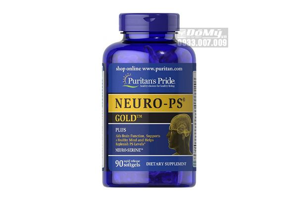 Viên Uống Cải Thiện Tuần Hoàn Não Puritan's Pride Neuro-PS Gold 90 Viên của Mỹ
