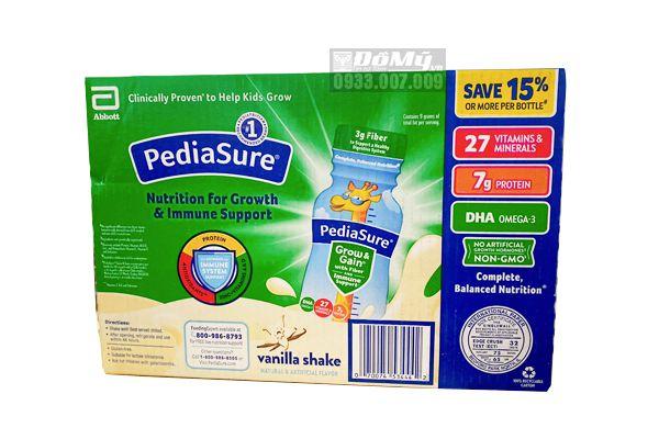 Sữa Pediasure nước Pediasure with Fiber hương vani 237ml của Mỹ