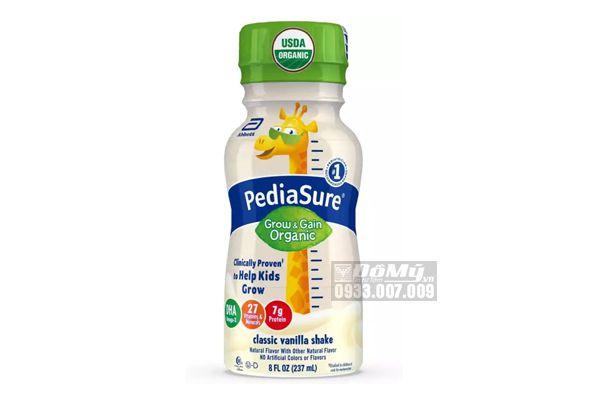 SỮA NƯỚC PEDIASURE ORGANIC KIDS NUTRITION NON GMO MỸ 237ML (24 chai)