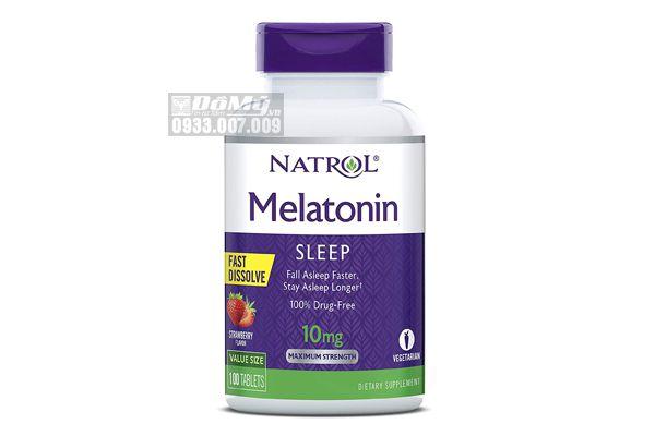 Viên Ngậm Giúp Ngủ Ngon Natrol Melatonin Sleep Drug-Free 10mg 100 Viên