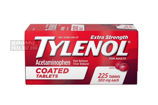 Viên Uống Giảm Đau Tylenol Extra Strength Coated Tablets 225 Viên