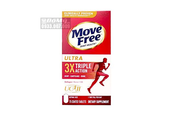 Viên uống bổ khớp Move Free Ultra Triple Action 75 viên - Mỹ (hộp giấy)