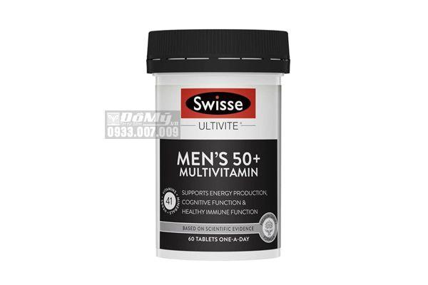 Viên Uống Vitamin Tổng Hợp Cho Nam Trên 50 tuổi Swisse Men's 50+ Multivitamin 60 Viên
