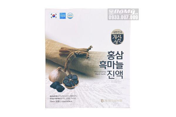 Nước Hồng Sâm Tỏi Đen Hàn Quốc 30 Gói 70ml