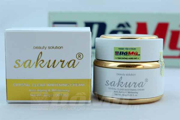 Kem dưỡng trắng da mặt chống lão hóa Sakura Anti-Wrinkle Whitening Cream