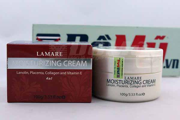 Kem dưỡng trắng da nhau thai cừu Lamare Moisturizing Cream của Úc loại 50g