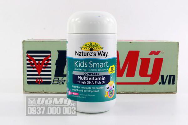 Vitamin tổng hợp và dầu cá cho bé Nature's Way Kids Smart Complete Multivitamin & Fish Oil 50 viên của Úc