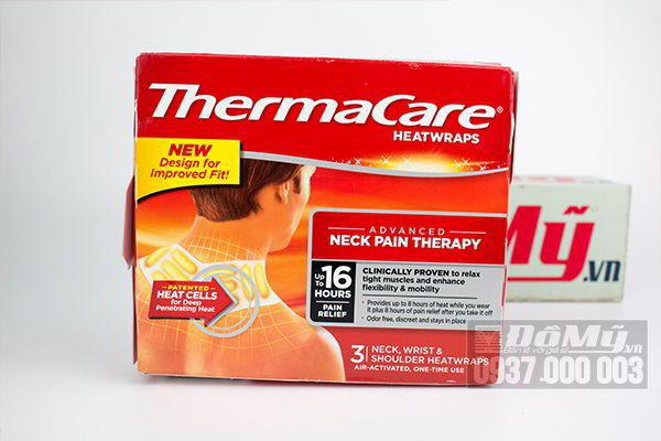 Miếng dán nhiệt giảm đau vùng thắt lưng và vai gáy Thermacare Heatwraps Neck Pain Therapy của Mỹ