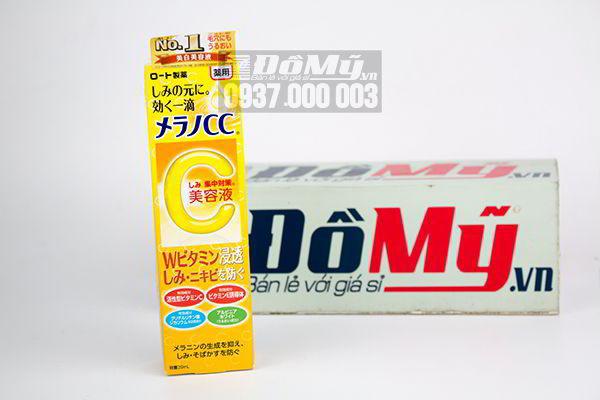 Serum Vitamin C trị thâm nám, mụn Melano CC Rohto 20ml của Nhật Bản