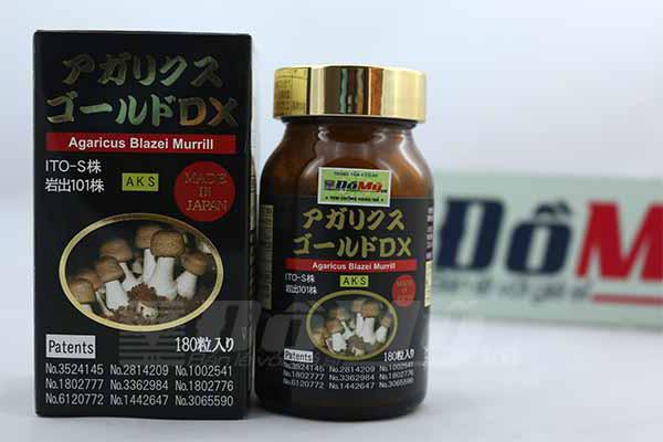 Viên uống nấm Agaricus Blazei Murill hộp 100 viên Nhật Bản