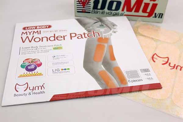 Miếng dán tan mỡ Wonder Patch hộp 5 miếng của Hàn Quốc