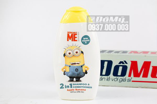 Dầu gội & xả Despicable Me 2 in 1 Shampoo & Conditioner Apple Banana 296ml của Mỹ