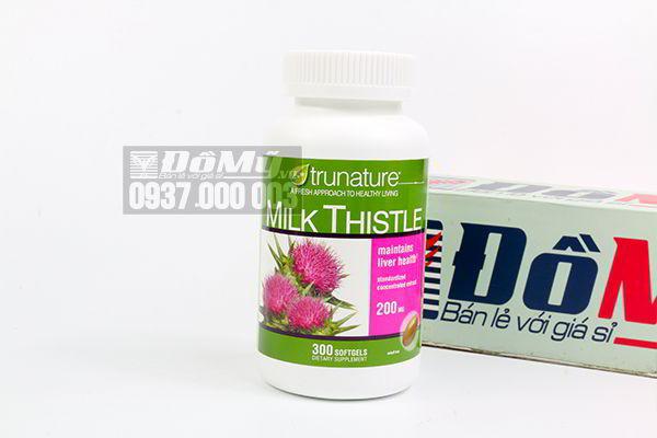 Viên uống bổ gan Trunature Milk Thistle 200mg 300 viên của Mỹ