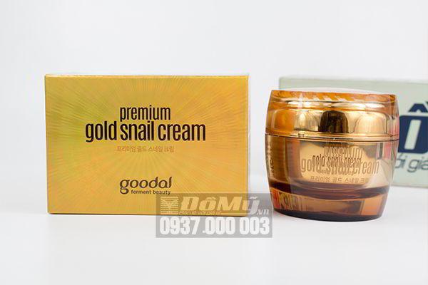 Kem dưỡng da chiết xuất ốc sên vàng Goodal Premium Gold Snail Cream 50ml của Hàn Quốc