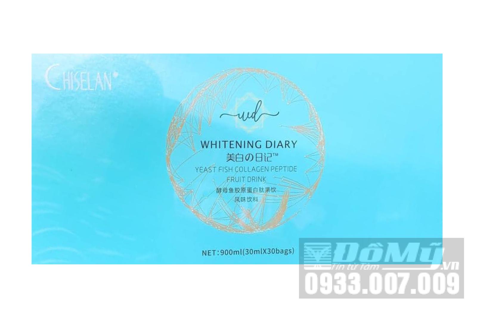 Nước Uống Collagen Chiselan Whitening Diary Trắng Da, Mờ Nám 30 Gói