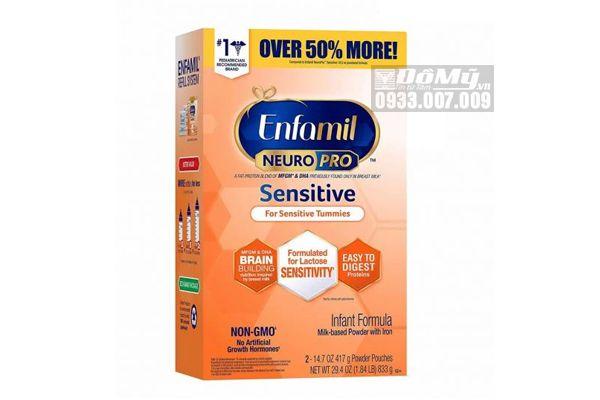 Sữa Enfamil Neuro Pro Sensitive Cho Bé Tiêu Hóa Kém, Nôn Trớ 833g
